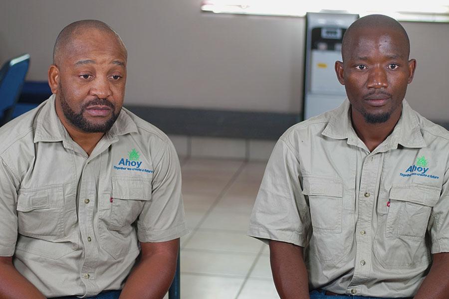 Thabo Valoyi and John Katjedi